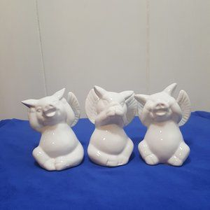 Three Pigs Hear no Evil Speak no Evil See no Evil